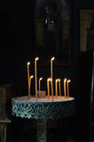 Candle stand in orthodox church Royalty Free Stock Images