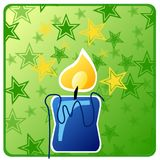 Candle star Royalty Free Stock Photos