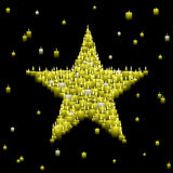 Candle star background Royalty Free Stock Photography
