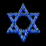 Candle star of David stock images