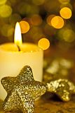 Candle and Stars. Stock Photos