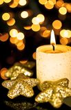 Candle and Stars. Royalty Free Stock Photo