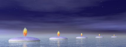 Candle steps - 3D render Royalty Free Stock Photo