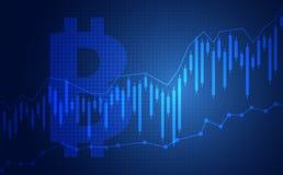 Candle stick graph chart of stock market investment trading bitcoin. Bullish point, Bearish point. trend of graph vector design. Stock market chart. Business Stock Photo