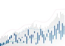 Candle stick graph chart of stock market investment trading, Bullish point, Bearish point.  Candle stick graph chart of stock eps royalty free illustration