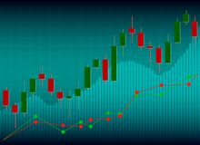 Candle stick graph chart of stock market investment trading, Sto. Ck exchange concept Royalty Free Stock Photos
