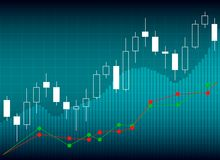 Candle stick graph chart of stock market investment trading, Sto. Ck exchange concept Stock Photos