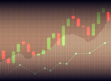 Candle stick graph chart of stock market investment trading, Sto. Ck exchange concept Stock Image