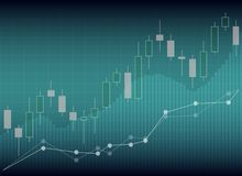 Candle stick graph chart of stock market investment trading, Sto. Ck exchange concept Royalty Free Stock Image