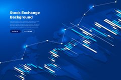Stock exchange background. Candle stick graph chart of stock market investment trading, Stock exchange concept design and background. Vector illustrations stock illustration