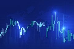 Stock exchange background. Candle stick graph chart of stock market investment trading, Stock exchange concept design and background. Vector illustrations royalty free illustration