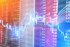 Candle stick stock market tracking graph. Economical stock marke Stock Photo