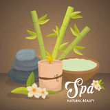 Candle and stone icon. Spa center design. Vector graphic Royalty Free Stock Photo