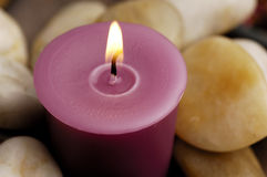 Candle with Stones royalty free stock photos