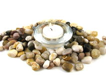 Candle and Stones Stock Photos