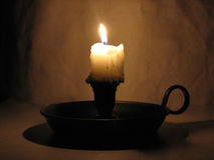 Candle Stub Stock Image