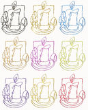Candle symbols Stock Images