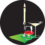 candle szkła dwa Royalty Ilustracja