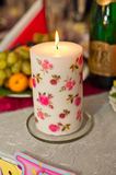 Candle on a table. Stock Image