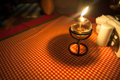 Candle in the table Royalty Free Stock Photography