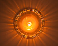 Candle taken from above Royalty Free Stock Images