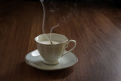 Candle in a tea cups Royalty Free Stock Photos