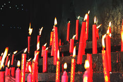 The candle. The temple of the candlestick Royalty Free Stock Image