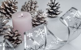 Candle to decorate christmas royalty free stock photos