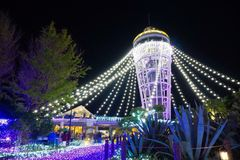 Candle tower. Beautiful lighting at Candle tower in Enoshima Japan Stock Image