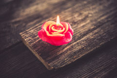 Candle, Valentine's Day decoration Stock Images