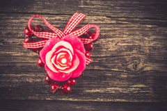 Candle, Valentine's Day decoration Royalty Free Stock Photography