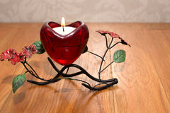 Candle Valentine`s Day Royalty Free Stock Images