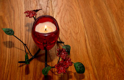 Candle Valentine`s Day Stock Photo