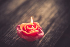 Candle, Valentines Day decoration Stock Images