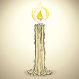 Candle, vector illustration. Stock Photos