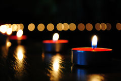 Candle wallpaper Stock Photos