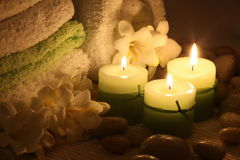 Candle wallpaper Stock Photo