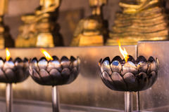 Candle in Wat Phar That Doi Suthepb, Thai temple in Chiangmai Thailand Royalty Free Stock Photo