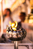 Candle in Wat Phar That Doi Suthepb, Thai temple in Chiangmai Thailand Stock Photo