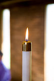 Candle at Wedding Ceremony Stock Photos