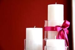 Candle wedding Stock Images