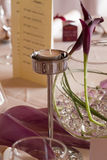 Candle on the wedding or event table Stock Image