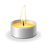 Candle on white Royalty Free Stock Images