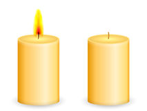 Candle. On a white background Royalty Free Stock Images