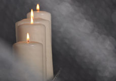 Candle. White and flame Royalty Free Stock Images