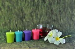 Candle and wild Royalty Free Stock Photo