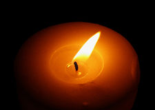 Candle In The Wind. Candle light detail Stock Image