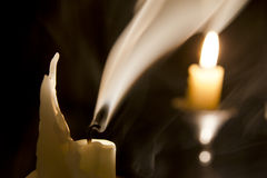 Candle in the wind.. Royalty Free Stock Images