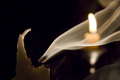 Candle in the wind.. Stock Photo