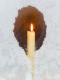 Candle in the window Royalty Free Stock Photography